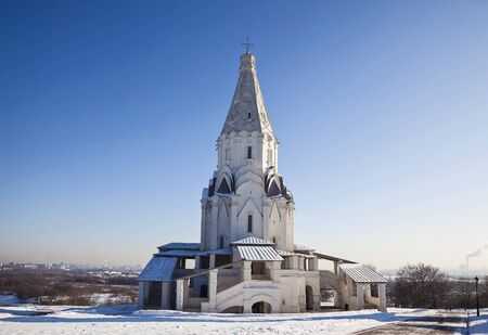 Church of the Ascension of God in Kolomenskoye in winter. Moscow