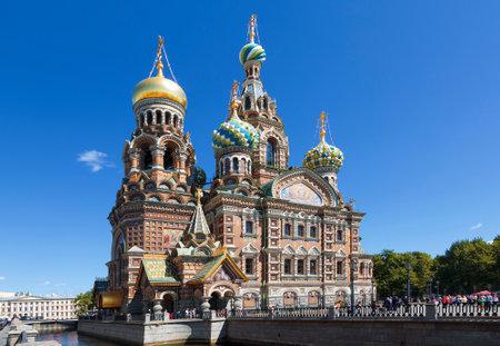 Die Kathedrale des vergossenen Blutes in St. Petersburg, Russland. Editorial