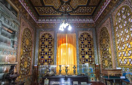 Interior of the guest house of the summer palace of the Emir of Bukhara. Bukhara, Uzbekistan Editöryel