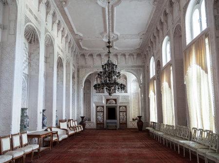 Summer Palace of the Emir of Bukhara, interior of the white hall. Bukhara, Uzbekistan Editöryel