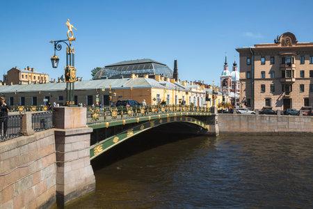 Saint-Petersburg. Fontanka river with Panteleymonovsky bridge. Russia
