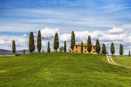Traditional rural landscape, Tuscany, Italy