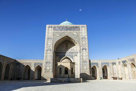 Kalyan mosque in Bukhara in the morning, inner courtyard. Uzbekistan Stockfoto