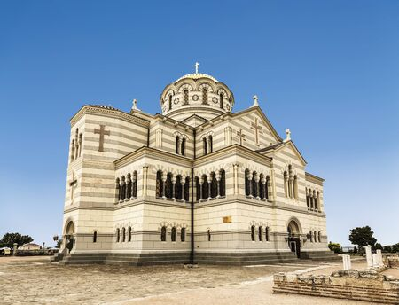 Cathedral of Saint Vladimir in Chersonesos. Historical and archaeological reserve Chersonesos Taurica, Crimea, Russia