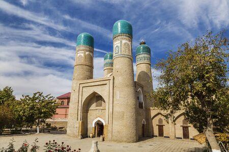 Chor-Minor madrasah in Bukhara on a Sunny day, Uzbekistan