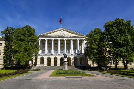 The building of the Smolny Institute of noble maidens, now the residence of the Governor of St. Petersburg, St. Petersburg, Russia