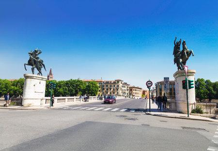 Verona, Bridge Ponte della Vittoria - Victory Bridge. Italy