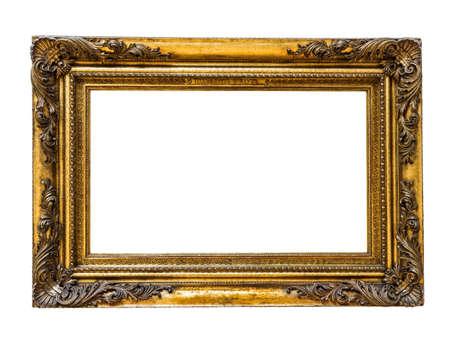 Wooden vintage frame isolated on white Standard-Bild