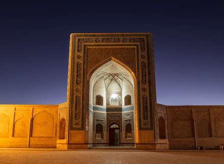 Kalyan mosque in Bukhara at night, Uzbekistan