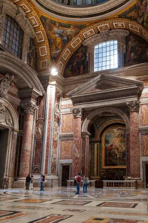 Interior of St. Peter`s Basilica, Vatican Editorial