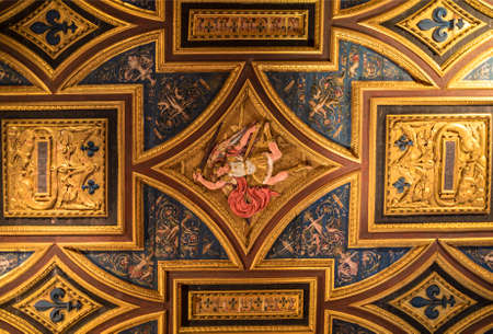 Castel Sant`Angelo, Hadrian`s mausoleum, the interior, Rome, Italy