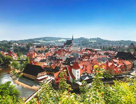 Top view of Cesky Krumlov, Czech Republic