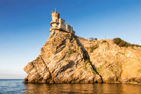 Swallow's Nest castle (1912) on the rock over the Black Sea early in the morning.
