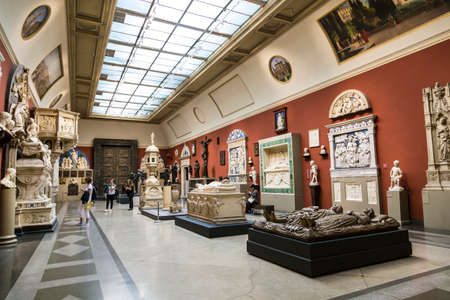 Hall of casts of Italian Renaissance sculpture in the Pushkin Museum of Fine Arts in Moscow. Russia
