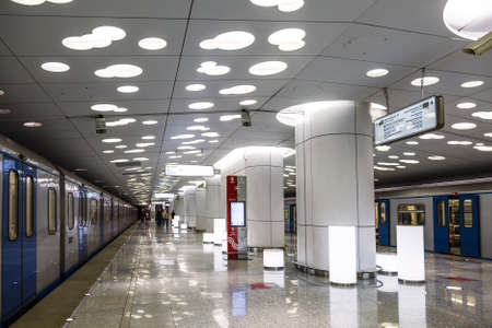 Interior of the Moscow metro station