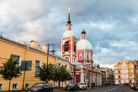 The Church of the Holy Great Martyr and Healer Panteleimon on Pestel Street in St. Petersburg. Russia