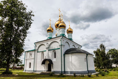View of the Cathedral of the Nativity of the Virgin in the Solotchensk Convent of the Nativity of the Virgin. Ryazan, Russia
