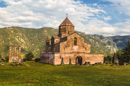 Armenian monastery of the VI century located in the village of Odzun in the Lori region of Armenia Standard-Bild