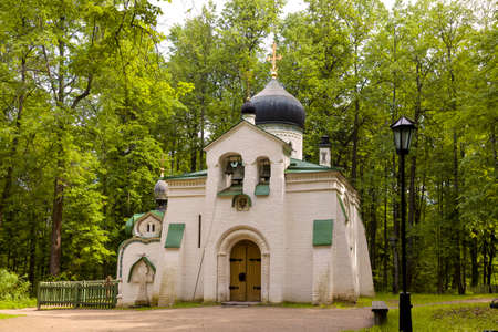 Church of the Savior of the Holy Image in Abramtsevo. Moscow region, Russia Standard-Bild