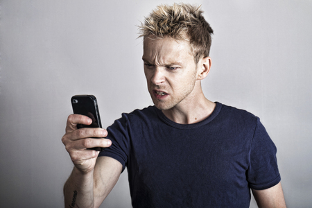 android tablet: Angry smartphone guy