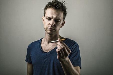 breath: Stop smoking now Stock Photo