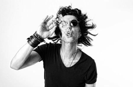lookalike: Guy smoking weed Stock Photo