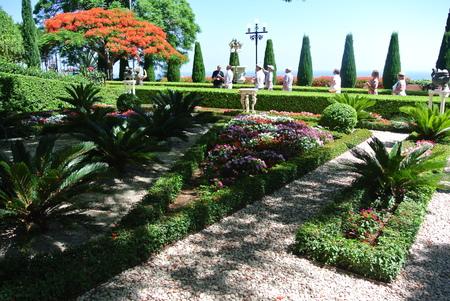 View of the Bahai gardens. Haifa Tourist Attractions. Israel