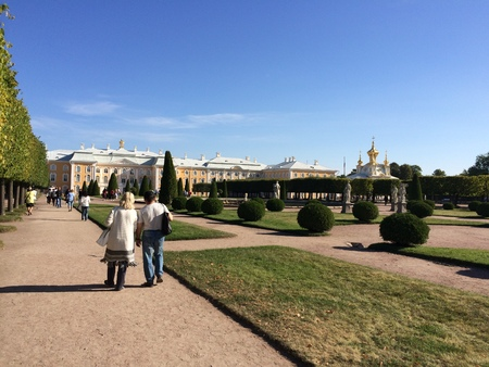 Peterhof. Tourist attraction of Russia on the outskirts of St. Petersburg. Petersburg. Petersburg