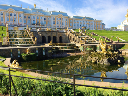 Peterhof. Tourist attraction of Russia on the outskirts of St. Petersburg. Petersburg