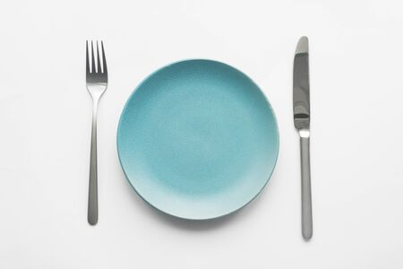 Plate and Cutlery. knife and plate on the table