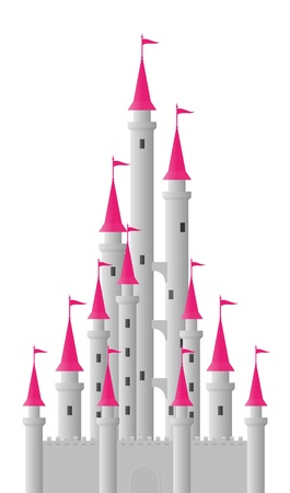 fairytale castle: fantasy castle Illustration