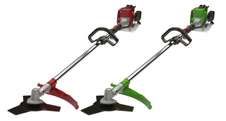 trimmer: Two garden trimmer isolated on white background Stock Photo