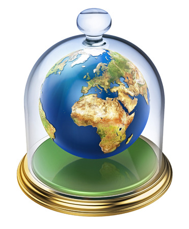 ozone layer: Planet earth is protected by the ozone layer Stock Photo
