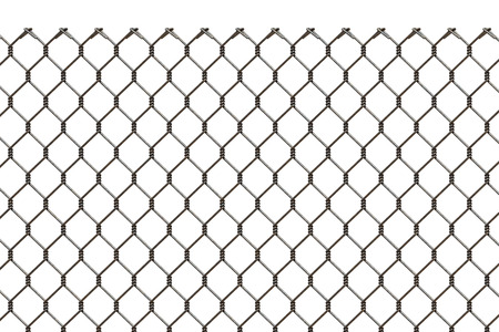 metal grid: Rusty metal grid on a white background isolated