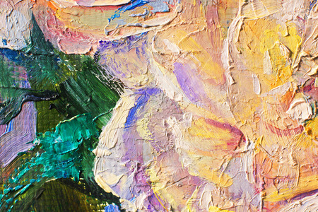 Oil paints of different colors an artists palette background for design