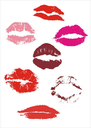 smooch: lips.This image is a vector illustration and can be scaled to any size without loss of resolution.