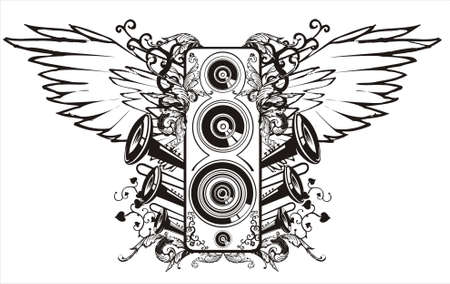 sound.This image is a vector illustration and can be scaled to any size without loss of resolution. Ilustração