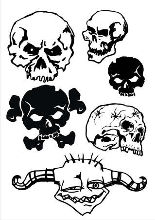 vector skull.This image is a vector illustration and can be scaled to any size without loss of resolution. Vector