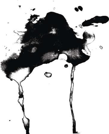 runing: runing gotas de tinta negro