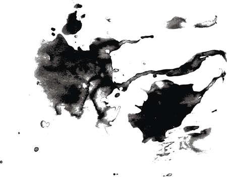 runing: Vector pi с, runing gotas de tinta