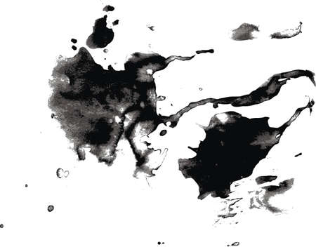 Vector piс, runing drops ink  Ilustração