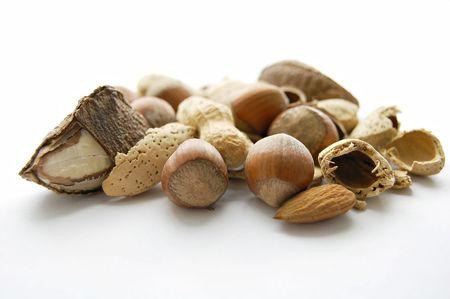 Peanut isolated on the white background photo