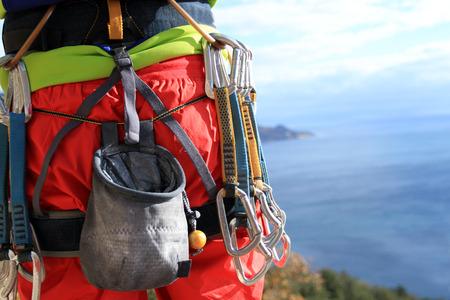climbing gear Standard-Bild
