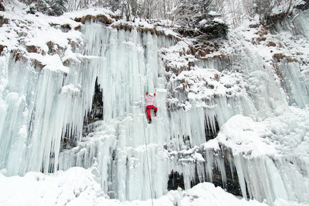 ice climbing: Ice climbing the North Caucasus.