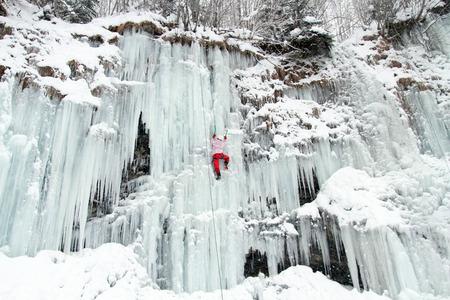 snow climbing: Ice climbing the North Caucasus.