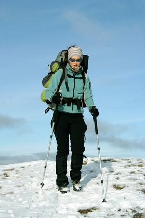 hike: Winter hike. Stock Photo