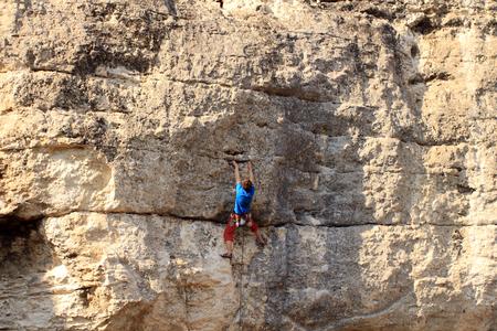 high mountain: Climber.