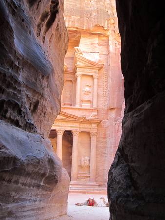 khazneh: Al Khazneh - the treasury of Petra ancient city, Jordan