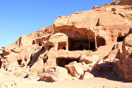 nabataeans: Petra - Nabataeans capital city, Jordan.