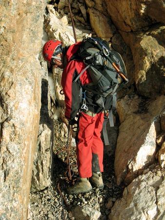 alpinist: Winter alpine trekking